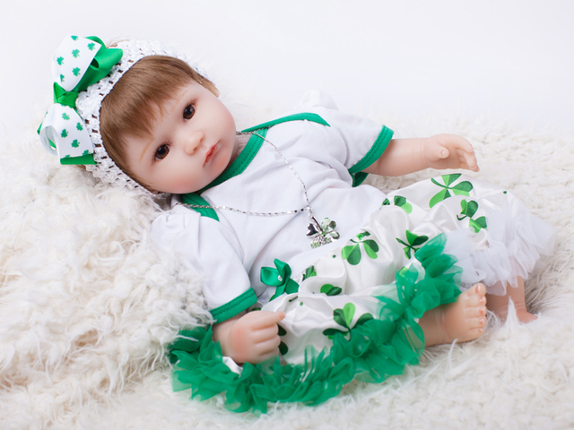 40cm Silicone Reborn Baby Doll Toy For Girls