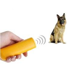 Pet Dog Repeller Anti Barking Stop Bark Training Device Trainer LED Ultrasonic Flashlight