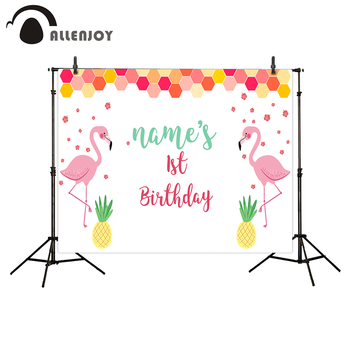 Allenjoy photography backdrops Flamingo Pineapple Birthday Background Party photocall photography background