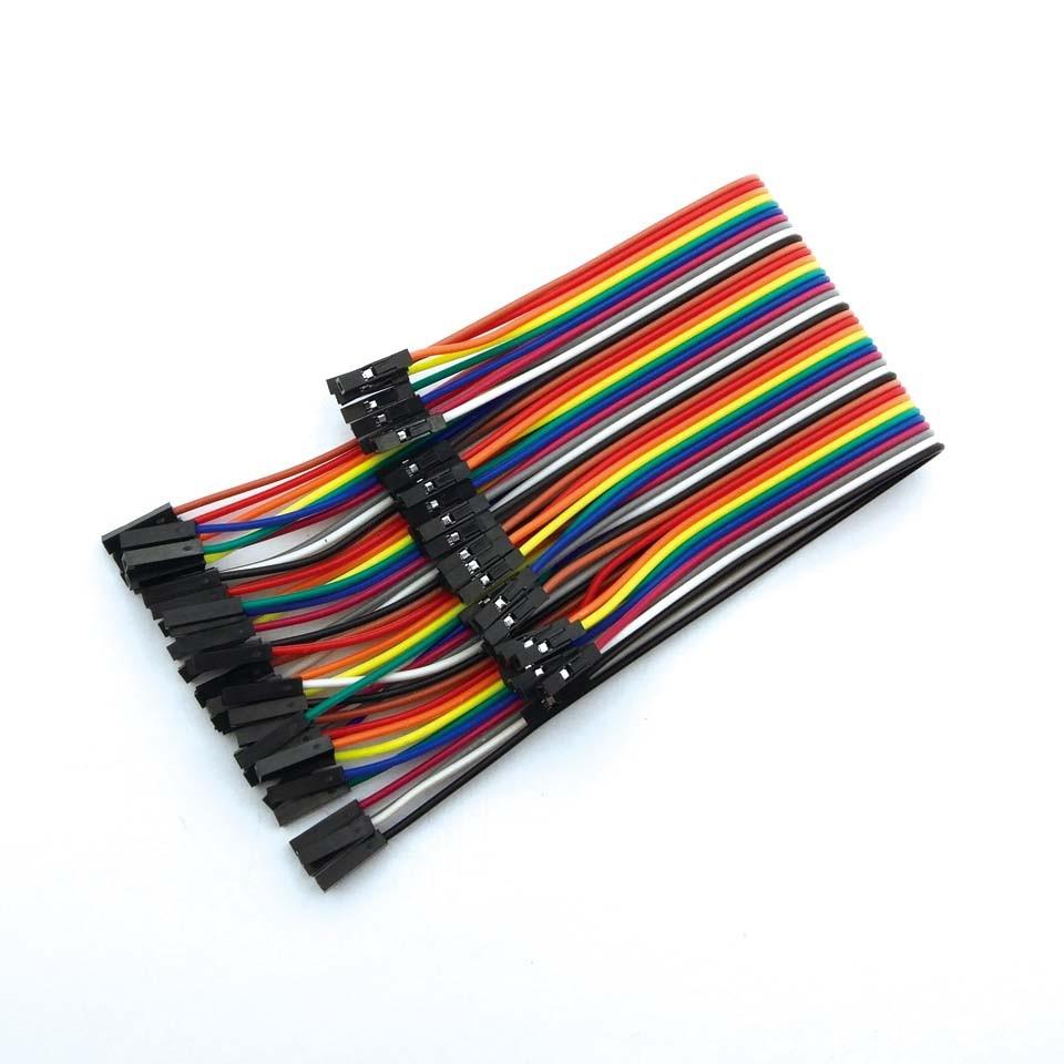 40pcs Dupont Cable Jumper Wire Dupont Line F-F Dupont Line 1P-1P 10/20/30CM 1P-1P