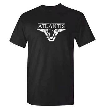 Stargate Atlantis TShirt-Erkek Siyah SG1 Yıldız Kapısı DVD Serisi Film En Serin Rahat pride t shirt erkekler Unisex yeni Moda