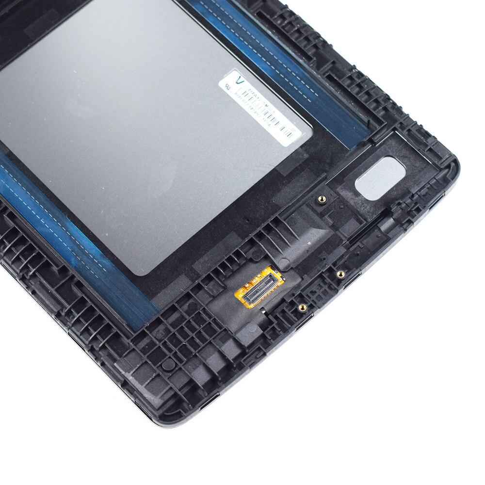 Pour LG G Pad 8.0 V480 V490 LCD écran tactile matrice numériseur panneau capteur verre tablette assemblée remplacement avec cadre - 3