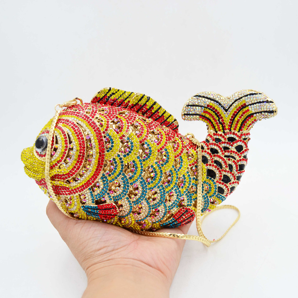 Fish Designer Party Purse Mini Messenger Bag Fashion Animal Clutch Bag Women Wedding Bag Female pochette
