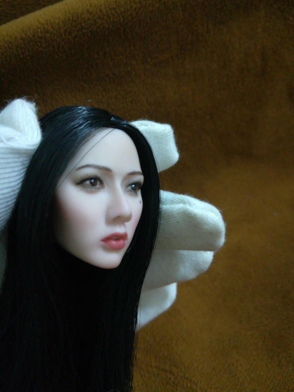 1//6 Asian Girl Qi Liuhai Big Face Head Sculpt F 12/'/' Pale Female Figure Body