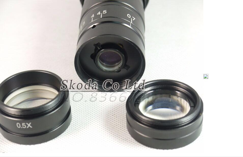 ФОТО Free shipping 2pcs/lot 0.5X / 2.0X industry microscope Camera Objective lens for 10A C-MOUNT lens Barlow Auxiliary Glass Lens