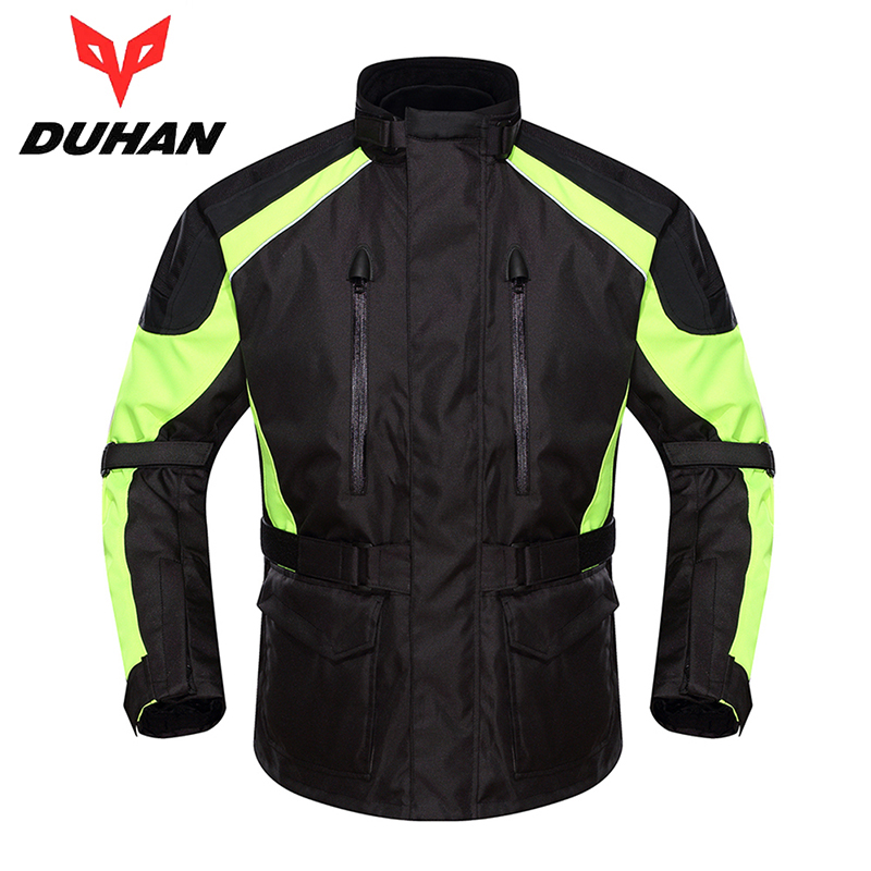DUHAN Professional  Motorcycle Jacket Men Waterproof Motocross Off-Road Racing Rain Coat Clothing Touring Riding Protective Gear  2017 motoboy motocross riding sports car split raincoat rain pants suit professional male motorcycle rain gear and equipment
