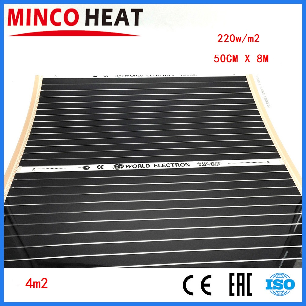 0 5m X 8m Floor Heating Electric Infrared Film 4 Square Meters Room Floor Warm Carbon