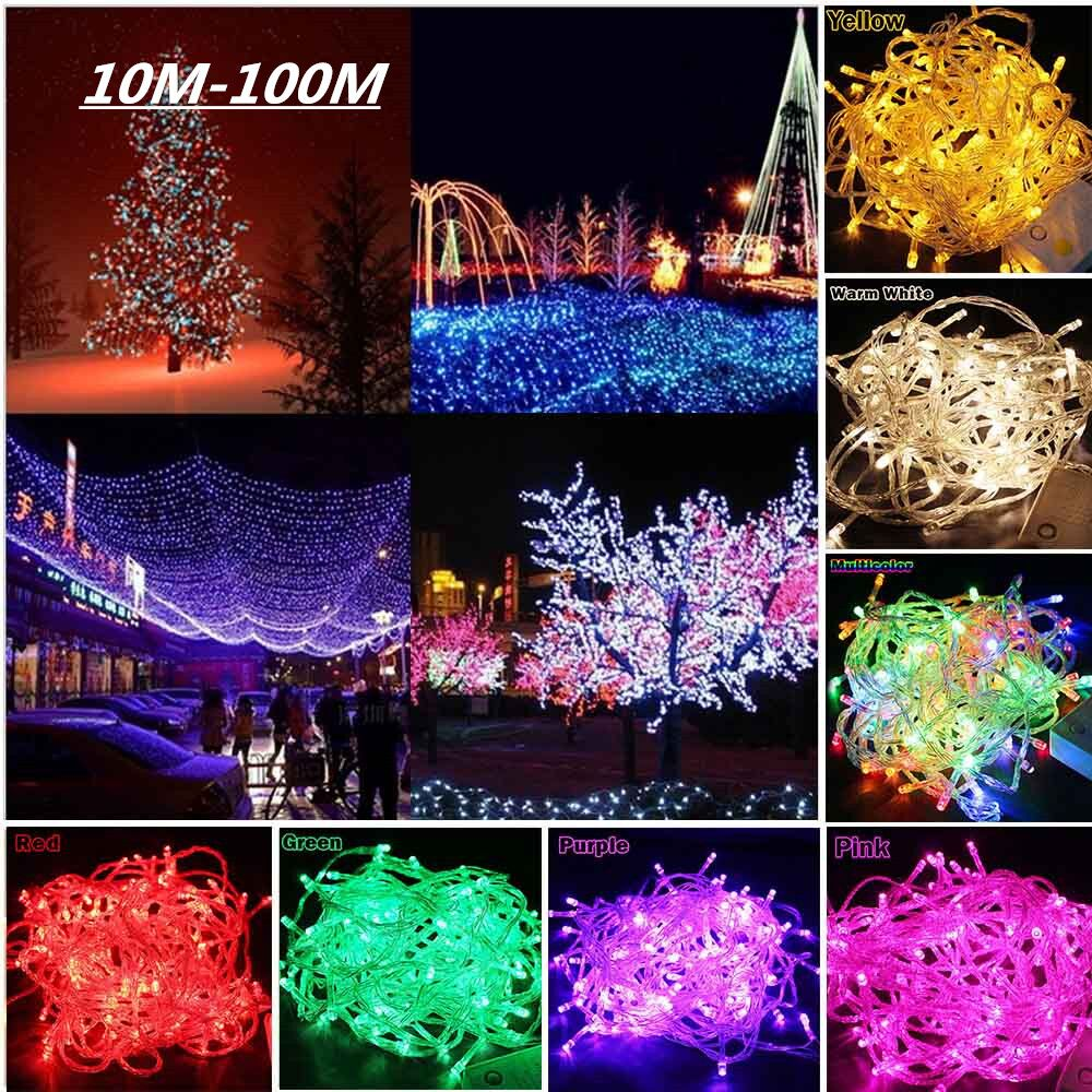 String Light 10M 20M 30M 50M 100M Christmas/Wedding/Party Decoration Lights AC 110V 220V outdoor Waterproof LED with controller