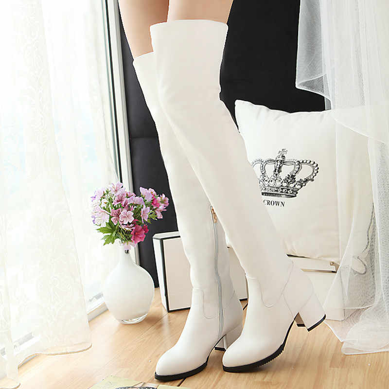 2019 New Slim Boots Sexy over the knee high women snow boots women's fashion thigh high boots shoes woma