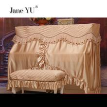 JaneYU European Piano Cover High-grade Lace Cloth Full Modern Simple Dust-proof Bench