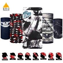 Крутая черная красочная велосипедная Волшебная шарф, велосипедная головная повязка с черепом, бесшовная бандана, маска для бега, защита для лица, MTB Балаклава