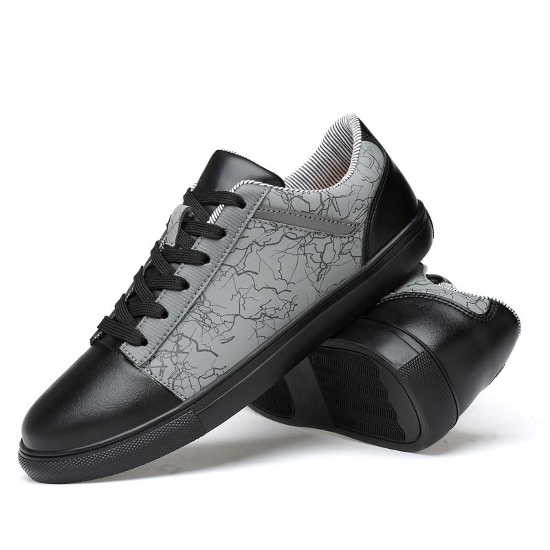2018 spring Men Shoes Luxury Brand Leather Casual lace up Shoes Men - Men's Shoes - Photo 3