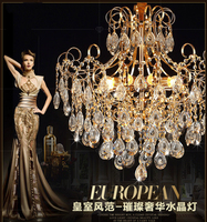 X Living Room Lamp Round Square Chandelier Crystal Lamp Atmosphere LED Lighting Lamp Bedroom Lamp Decoration
