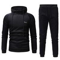 Casual Spring Men Sweatshirts suit Men's autumn Patchwork Pants Sets Sports Suit Track suit Fitness Clothing mens sets 2019