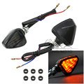 Universal Motorcycle LED Turn Signals Amber Light Smoke Lens Triangle Turn Signal Indicator Lamp Blinker Flasher for Yamaha BMW