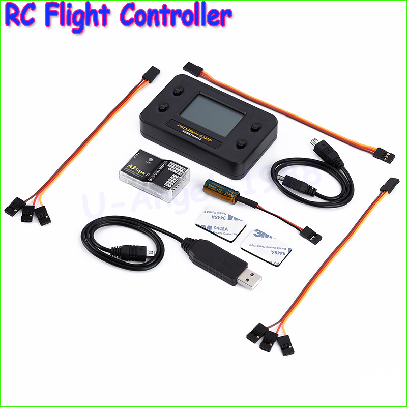 ФОТО EAGLE A3 Super II V2 Gyro & RC Flight Controller Stabilizer Full Set - Programe Card for RC Airplane