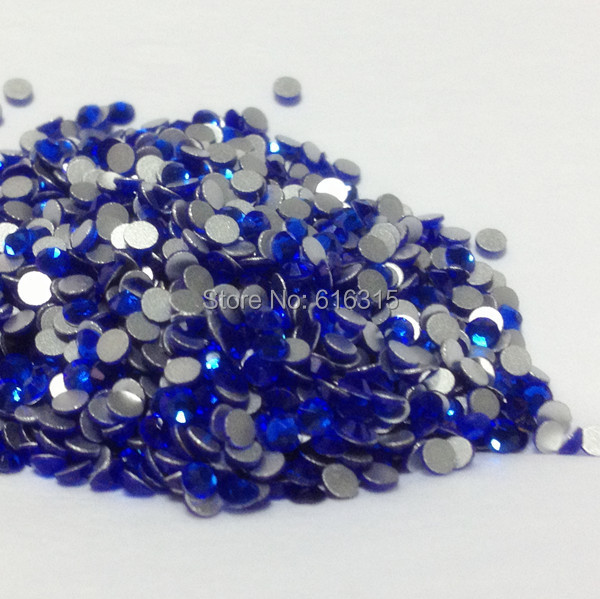 4mm non hot fix sapphire color of nail art stones  rhinestone with glue on  crystal 1440pcs per pack 88599fe26c11