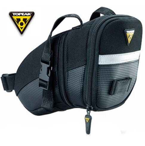 Topeak Aero Wedge Bike Seat Bag Saddle Pack with Straps 4 Size