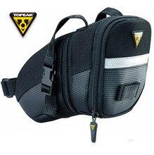 Topeak  Medium Aero Wedge TC2261B Bike Seat Bag Saddle Pack QR Straps/Black bicycle bags with quick Strap&Quick Release Buckles