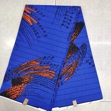 100% Cotton Ankara Fabric Royal Blue Ghanaian Dutch Wax, African wax print fabric for fashion 6 yards whole KWSH-97
