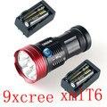 15000 Lumens 9x Cree Xm-l T6 LED Flashlight Torch Tactical Hunting 18650 Torch & 4x18650 4000MAH Battery +2x EU Charger