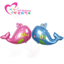 83*63cm Helium Quality Baby Boy Girl Litter Whale Foil Balloon Cute Animal Kid's Birthday Party Decoration Baby Shower Balloons