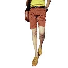 Новый Горячий Англии Стиль Случайные Шорты Мужчин Прохладное Лето Колен Твердые Тонкий Короткие Штаны Цвета Хаки 34-38
