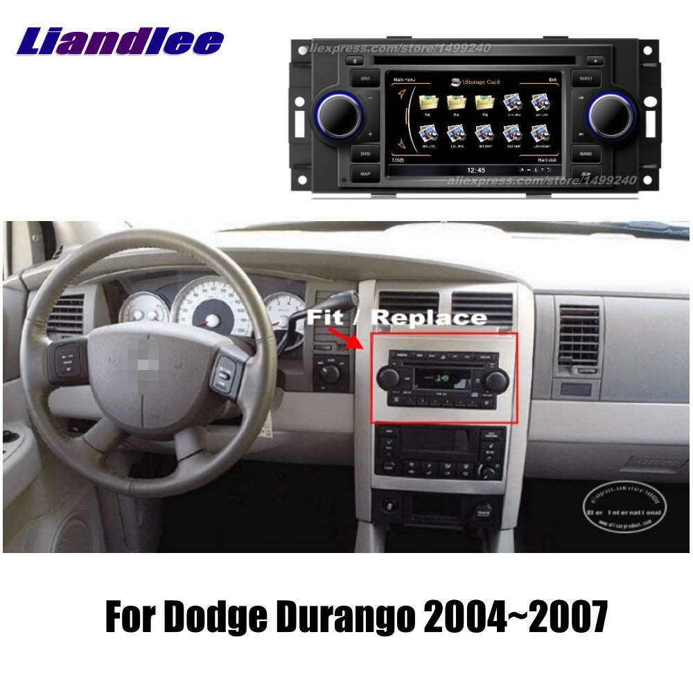 Liandlee 2 din Car Android For Dodge Durango 2001~2003 Radio GPS Maps Map Navigation player HD Screen BT WIFI Media System|navigation system|gps navigation system|gps navigation - title=
