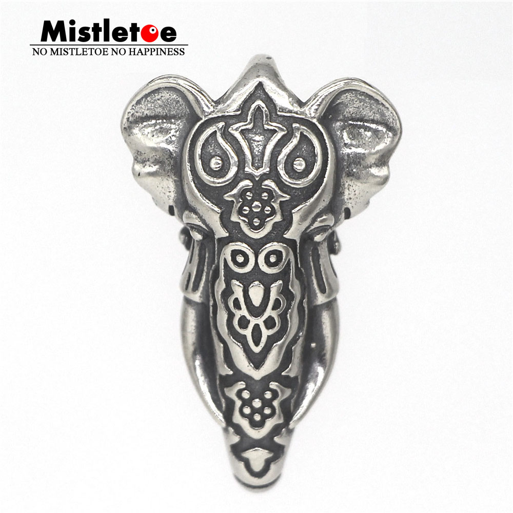 Mistletoe 925 Sterling Silver Elephant Lock Clasp Charm European Jewelry