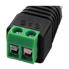 Wholesale 4 pcs RCA Plug to AV Connector CCTV Screw Connector Balun Black & Green