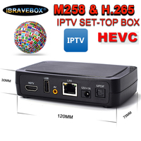 iBRAVEBOX M258 receiver satellite IPTV HEVC H.265 1080P set top box for digital tv usb wifi support spain Portugal ccccam PK V8S