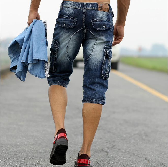 Aliexpress.com : Buy 2017 New Men Retro Cargo Denim Shorts, Men's ...