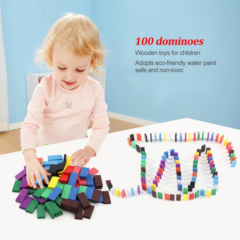 100 Pcs/set Baby Pädagogisches Holz Spielzeug Kinder Block Gebäude Interessant Spiel Spaß Spielzeug Holz Material Sicher/nicht -toxischen/eco-freundliche.
