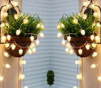 outdoor waterproof led lights string pinecone chandeliers courtyard balcony Christmas lights outdoor lighting lamps