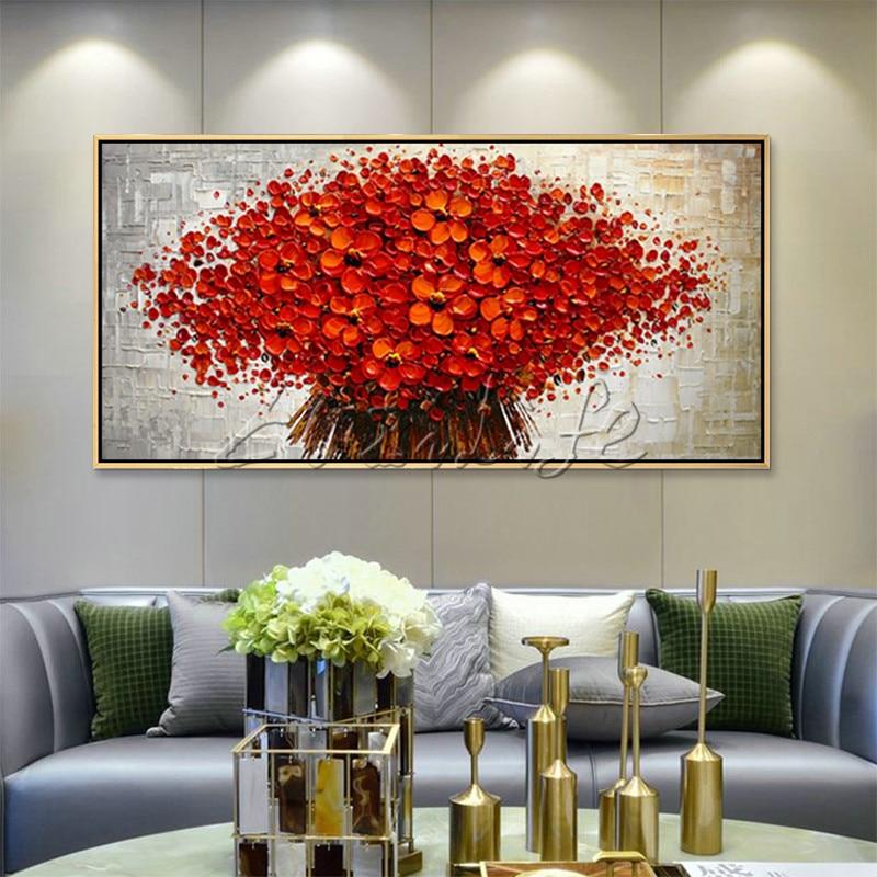 Ulei de panza Pictura cuadros decoracion palet cuțit 3D textura - Decoratiune interioara