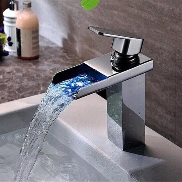 New De waterval kraan koper koud en warm water tap LDE lamp koude PW95