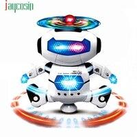 HIINST đồ chơi 2017 drop ship Điện Tử Walking Nhảy Múa Thông Minh Không Gian Robot Phi Hành Gia Trẻ Em Âm Nhạc Đồ Chơi Ánh Sáng * R Th