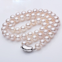 925 silver real natural big Cano Cindy pearl necklace, mother AAAA freshwater pearls, clavicle round, bright enough