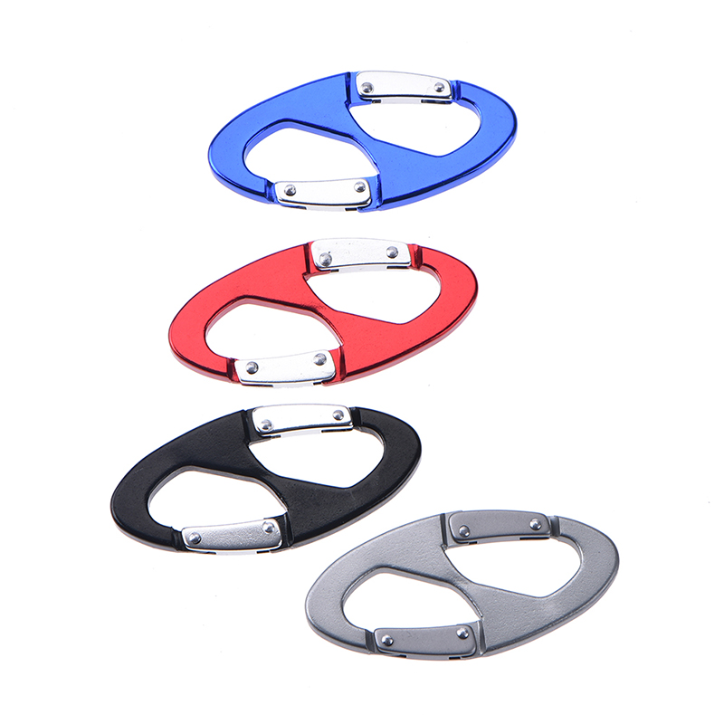 1pcs 8 Shape Multifunction Camping Survival Climbing S-biner Carabiner Buckle Clip Hook hanging buckle Climbing Accessories