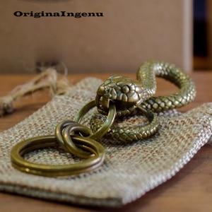 Image 3 - Мужской винтажный брелок Porte Clef, винтажный брелок в виде змеи, аксессуар для ключей на день рождения