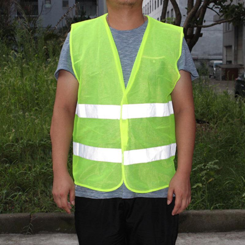 Giantree 2 Pockets 360 Degrees High Visibility Reflective Vests Safety Mesh Vest With Reflective Strips Tape For Airport Traffic