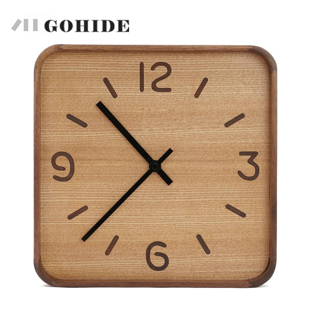 JUHD A Wooden Wall Clock Creative Modern Wall Clock Retro Pocket Watch Decor Crafts Natural Wall Clock Antique Style Clock