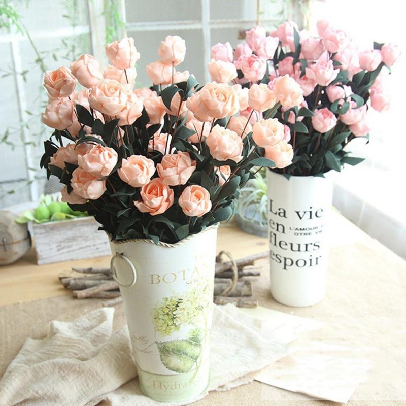 6 шт. одна роза для Phyllis PE искусственный цветок букет имитация украшения для подарка Свадебная вечеринка и домашний декор