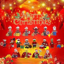 Legoing Christmas Gift Grinch Thanos Loki Captain America Deadpool Building Blocks Compatible With Legoings Toy For Children(China)