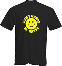 DONT WORRY, BE HAPPY - SMILEY FACE, Fun, Retro, T Shirt, Present, Quality, NEW New Shirts Funny Tops Tee Unisex