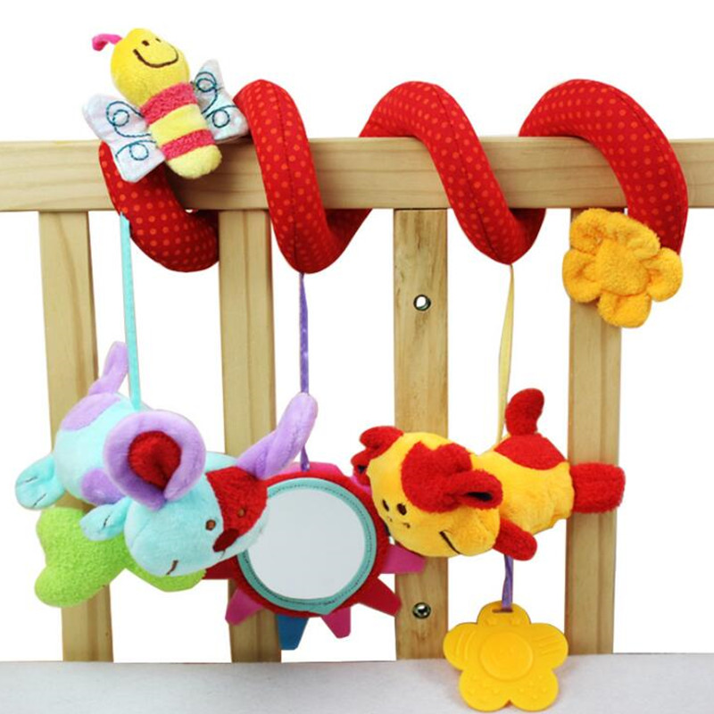 Baby music hanging bed safety seat plush toy Hand Bell Multifunctional Plush Toy Stroller Mobile Multipurpose Circle Round 20%
