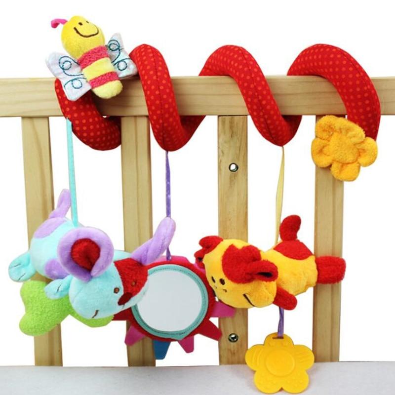 Kūdikių muzikos kabančios lovos saugos sėdynės plush žaislas Rankinis Bell daugiafunkcinis pliušinis žaislinis vežimėlis Mobilus daugiafunkcinis ratas 20%