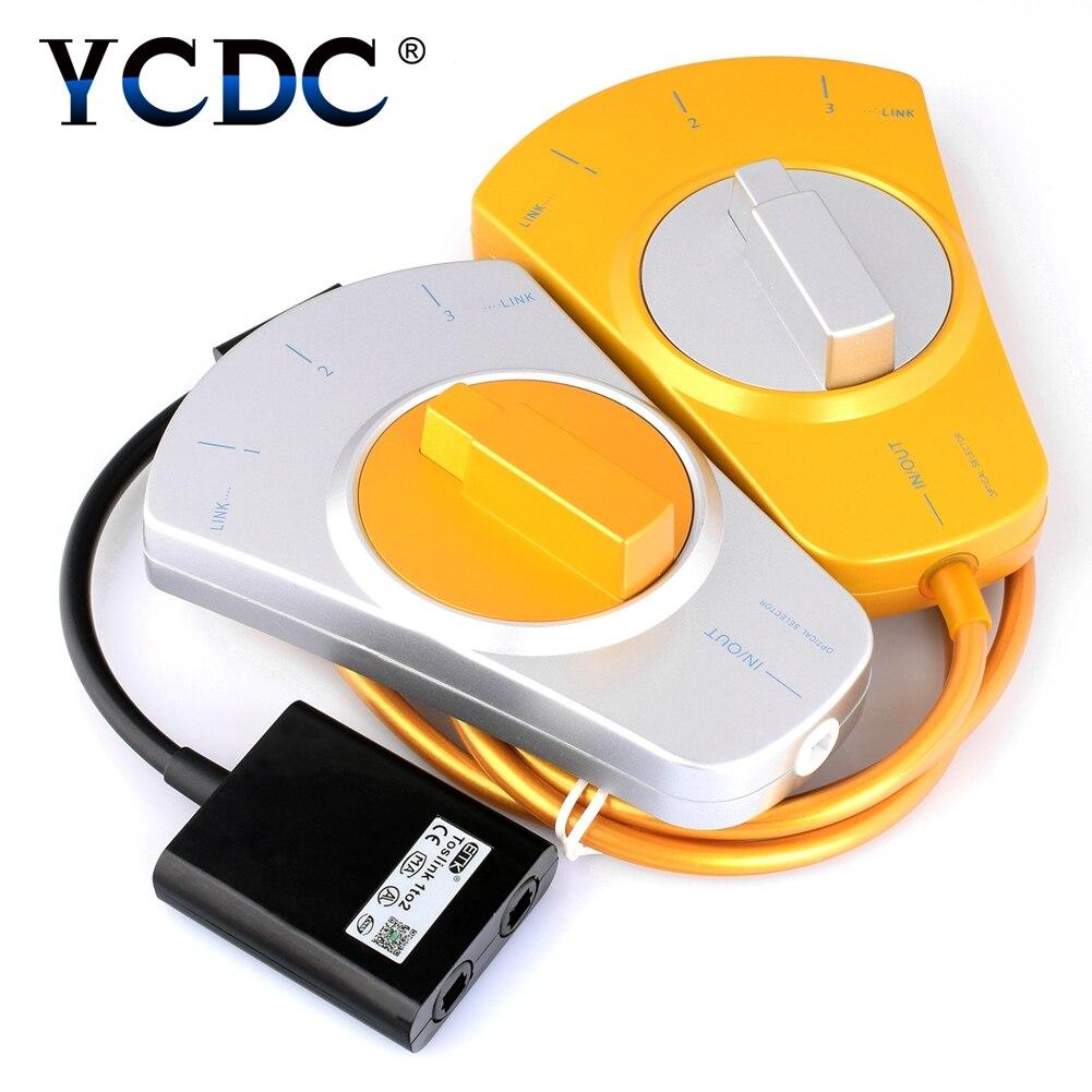 Ycdc поле оптический коммутатор аудио Toslink переключатель совместим быстро доставить гарантия 80 см кабель 3 входа 1 выход цифровой
