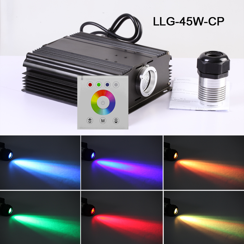 Twinkle star fiber optic lights LED light engine driver with RF color touch panel remote controller 2016 newest touching panel controller 16w rgbw led optic fiber light engine 150pcs 0 75mm 2meter optic fiber diy light