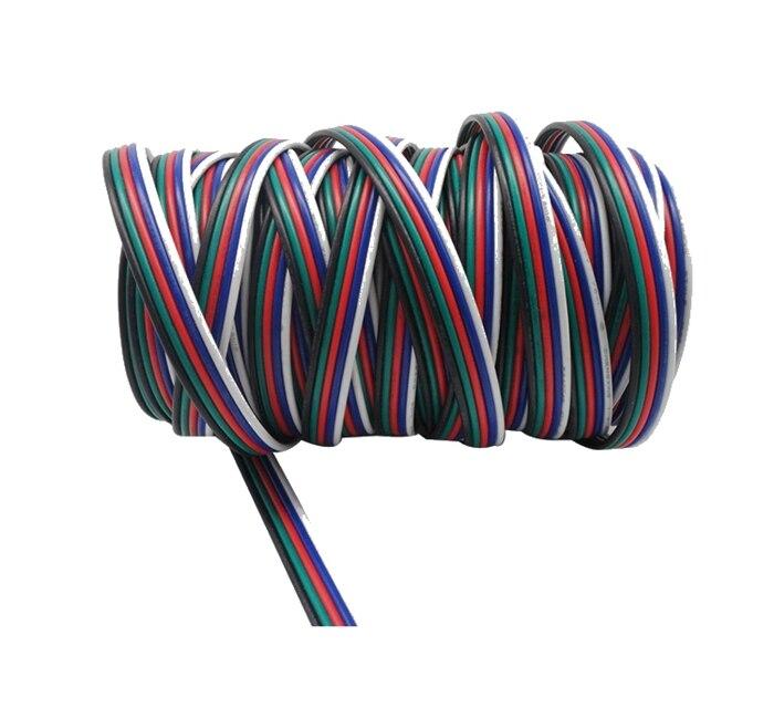 20 meter 5Pin Erweiterung Elektrische Draht Kabel Blau/Weiß/Rot/Grün ...
